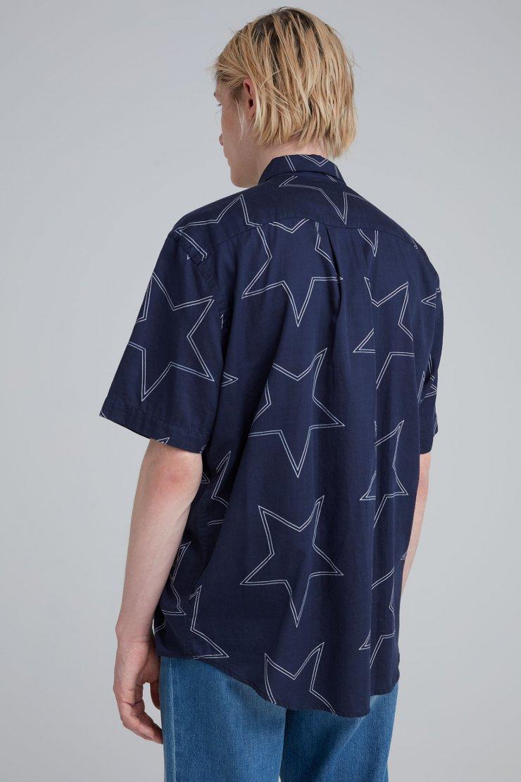 INITIAL SL SHIRT navy star print