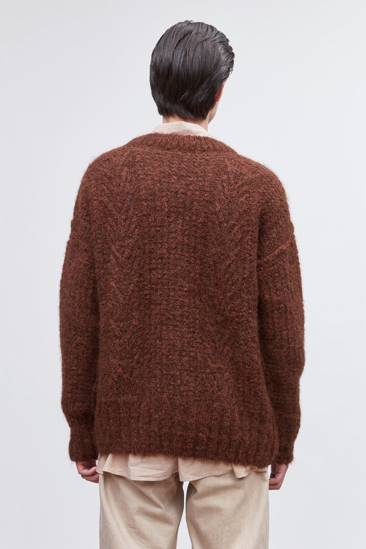 SMOOTH CABLE ROUNDNECK