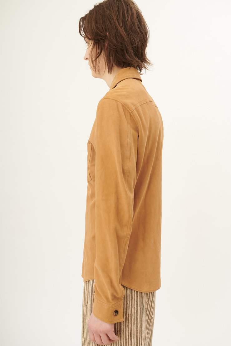 SUEDE ZIP SHIRT