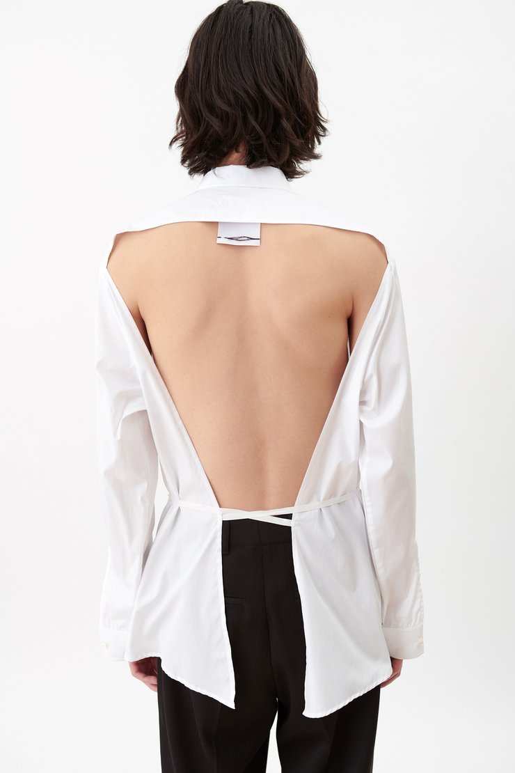 BACKLESS SHIRT