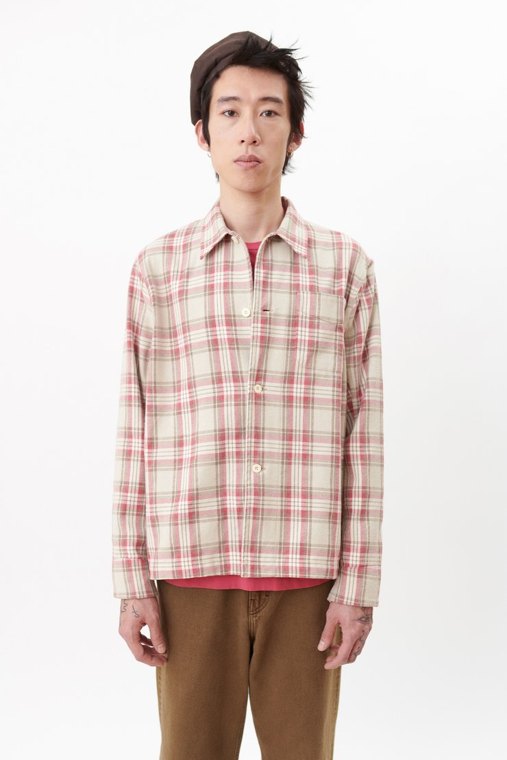 BOX SHIRT PINK CHECK