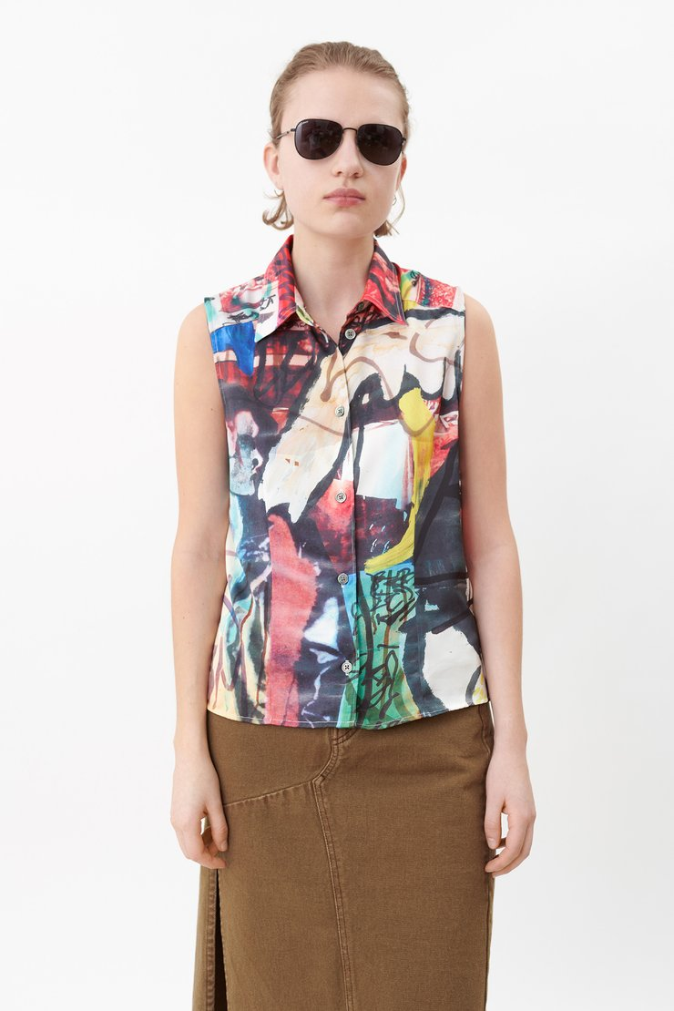 SEMI SLEEVELESS SHIRT