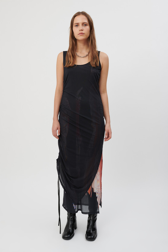 DOUBLE LAYER JERSEY DRESS
