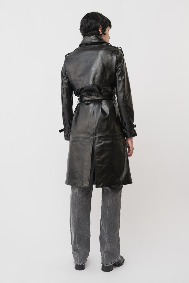 VERVE LEATHER COAT