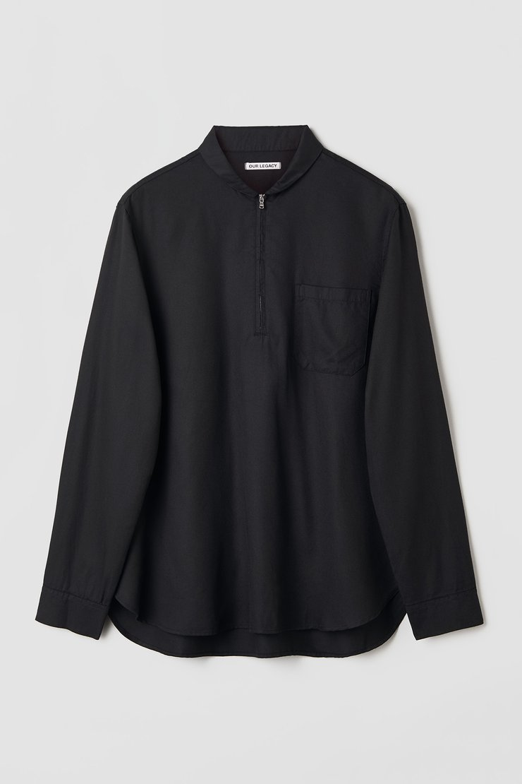 SHAWL ZIP SHIRT